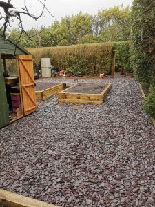 Raised Bed Planter With Railway Sleepers